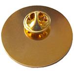 reverse of a golden pin